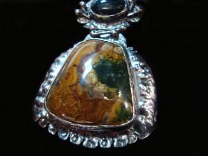 Мъхов Ахат – медальон – N152 | Moss Agate – pendant – N152