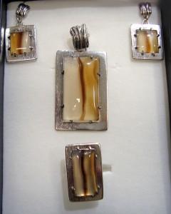 Дендрит Ахат Мадагаскар – комплект – N111 | Dendritic Agate Madagascar – set – N111