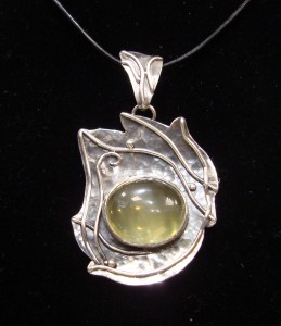 Цитрин – медальон – N127 | Citrine – pendant – N127