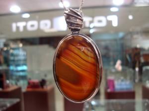 Ахат Мароко – медальон овал – N114 | Agate Morocco – pendant – N114