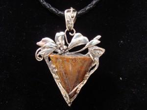 Ахат фосил Юта, САЩ – медальон – N133 | Fossil Agate Utah, USA – pendant – N133