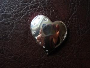 Медальон сърце с цирконии – N173 | Heart pendant with Cubic Zirconia – N173