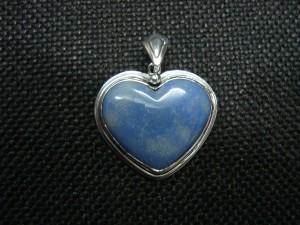 Содалит – медальон сърце – N168 | Sodalite – heart pendant – N168