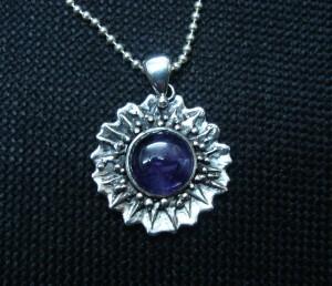 "Аметист – медальон ""слънце"" – N121 | Amethyst – ""sun"" pendant – N121"