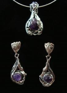 Аметист – обеци – N120 | Amethyst – earrings – N120