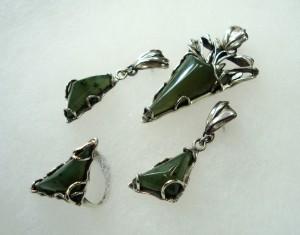 Нефрит – комплект – N183   Jade – set – N183