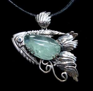 Аквамарин – медальон – N118 | Aquamarine – pendant – N118