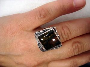 Мъхов Ахат България – пръстен – N179 | Moss Agate Bulgaria – ring – N179