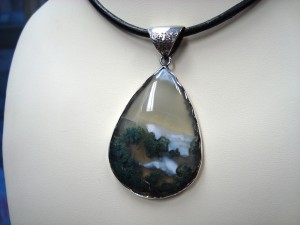 "Пейзажен Ахат България – медальон – N203 | ""Landscape"" Agate Bulgaria – pendant – N203"