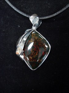 Мъхов Ахат – медальон – N211 | Moss Agate – pendant – N211