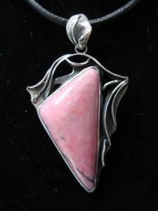 Родонит – медальон – N224 | Rhodonite – pendant – N224