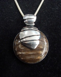 Вкаменено Дърво – медальон – N246 | Petrified Wood – pendant – N246