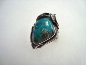 Хризокола Перу – пръстен – N249| Chrysocolla Peru – ring – N249