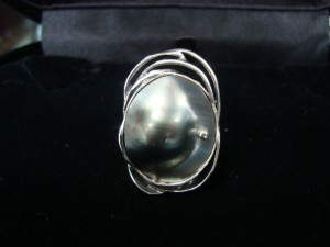 Таитянска перла – пръстен – N278   Tahitian pearl – ring – N278