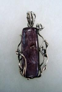 Лепидолит – медальон – N272 | Lepidolite – pendant – N272