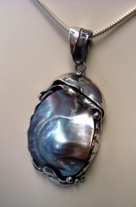 Таитянска перла – медальон – N274 | Tahitian pearl – pendant – N274