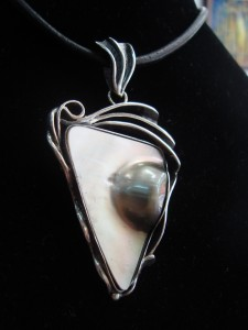 Таитянска перла – медальон – N275   Tahitian pearl – pendant – N275