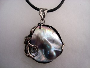 Таитянска перла – медальон – N276 | Tahitian pearl – pendant – N276