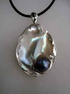 Таитянска перла – медальон – N277   Tahitian pearl – pendant – N277