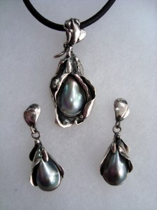 Таитянска перла – комплект – N273   Tahitian pearl – set – N273