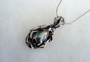 Таитянска перла – медальон – N263 | Tahitian pearl – pendant – N263