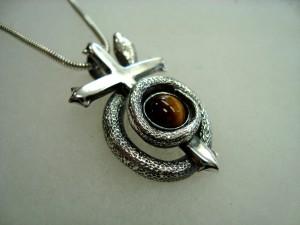 Тигрово око – медальон – N297 | Tiger's eye – pendant – N297