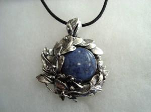 Дюмортиерит – медальон – N284 | Dumortierite – pendant – N284