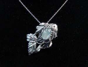 Аквамарин – брошка – медальон – N315 | Aquamarine – brooche – pendant – N315
