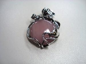 Розов Кварц – медальон – N325 | Pink Quartz – pendant – N325