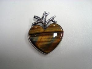 Тигрово око – медальон – N332 | Tiger's eye – pendant – N332
