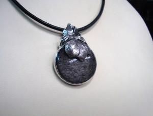 Сребрист Обсидиан – медальон – N351 | Silver Obsidian – pendant – N351