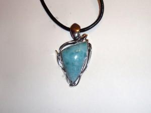 Ларимар – медальон N346   Larimar – pendant – N346