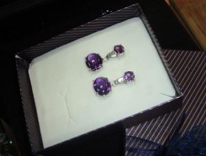 Аметист – обеци – N353 | Amethyst – earrings – N353
