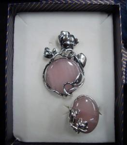 Розов Кварц – комплект – N362 | Pink Quartz – set – N362