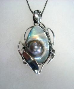 Таитянска Перла – медальон – N368 | Tahitian Pearl – pendant – N368