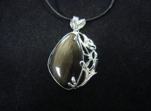 Златист Обсидиан – медальон – N401 | Golden Obsidian – pendant – N401