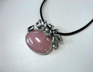 Розов кварц – медальон – N409 | Pink quartz – pendant – N409