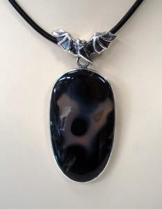 Ахат – медальон – N411   Agate – pendant – N411