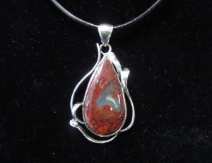 Червен Мъхов Ахат – медальон – N416 | Red Moss Agate – pendant – N416