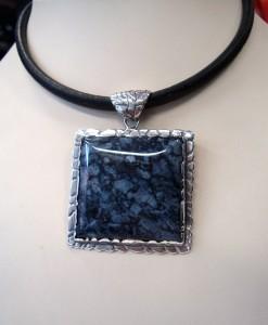 Черен Яспис Индия – медальон – N426 | Black Jasper India – pendant – N426