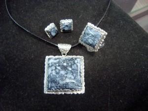 Черен Яспис Индия – медальон – N426a | Black Jasper India – pendant – N426a