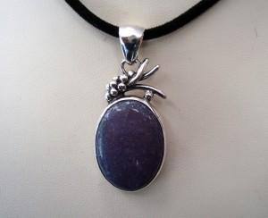Лепидолит – медальон – N435 | Lepidolite – pendant – N435