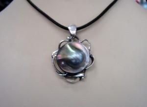 Таитянска Перла – медалон – N495 | Tahitian Pearl – pendant – N495