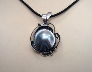 Таитянска перла – медальон – N496 | Tahitian Pearl – pendant – N496