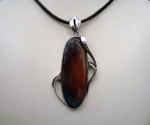 Ахат Рабово – медальон – N464 | Agate Rabovo – pendant – N464