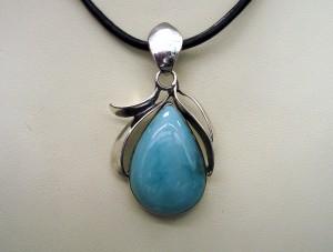 Ларимар – медальон – N466   Larimar – pendant – N466