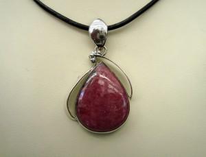 Родонит – медальон – N467 | Rhodonite – pendant – N467