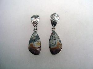 Ахат Крейзи Лейс Мексико – обеци – N470 | Agate Crazy Lace Mexico – earrings – N470