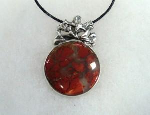 Яспис Брегча – медальон – N534 | Brecciated Jasper – pendant – N534