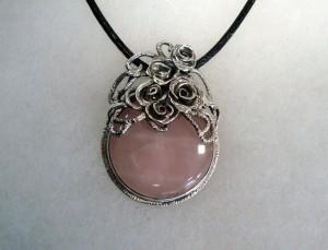 Розов кварц – медальон – N531 | Pink Quartz – pendant – N531
